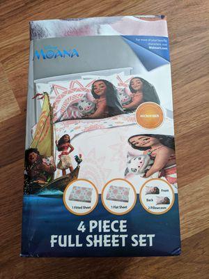 Moana 4 pcs full sheets set for Sale in Arlington, TX