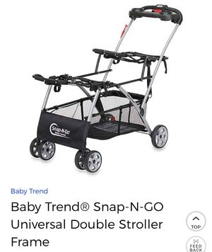 Babytrend Snap and go double stroller frame for Sale in Houston, TX