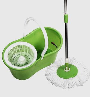 New in Box Spin Mop 360 Rotating Head Magic Floor Mop with 2 Microfiber Heads for Sale in Whittier, CA