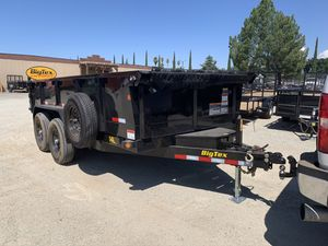 Big tex dump trailers bobcats mini excavator breakers equipment trailers for Sale in Pomona, CA