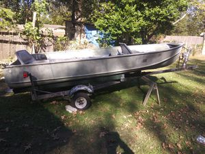 John boat and trailer aluminum for Sale in New Caney, TX