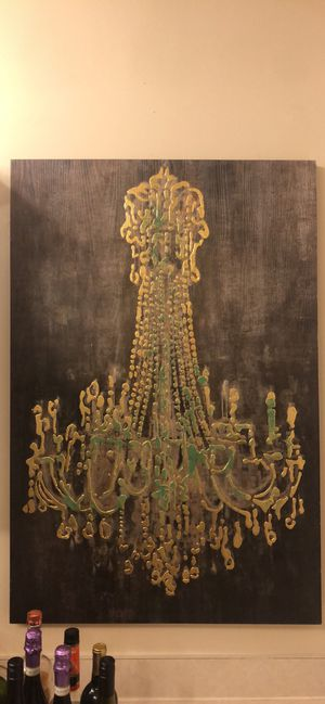 Kirkland Chandelier on Wood Canvas for Sale in Columbus, OH