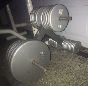 Home gym workout equipment, full bench set with 400lb total for Sale in Kent, WA
