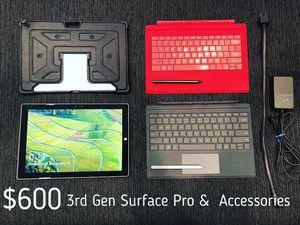 3rd Gen Microsoft Surface Pro for Sale in Atlanta, GA