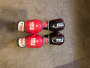 Title Classic boxing gloves for Sale in Durham, NC