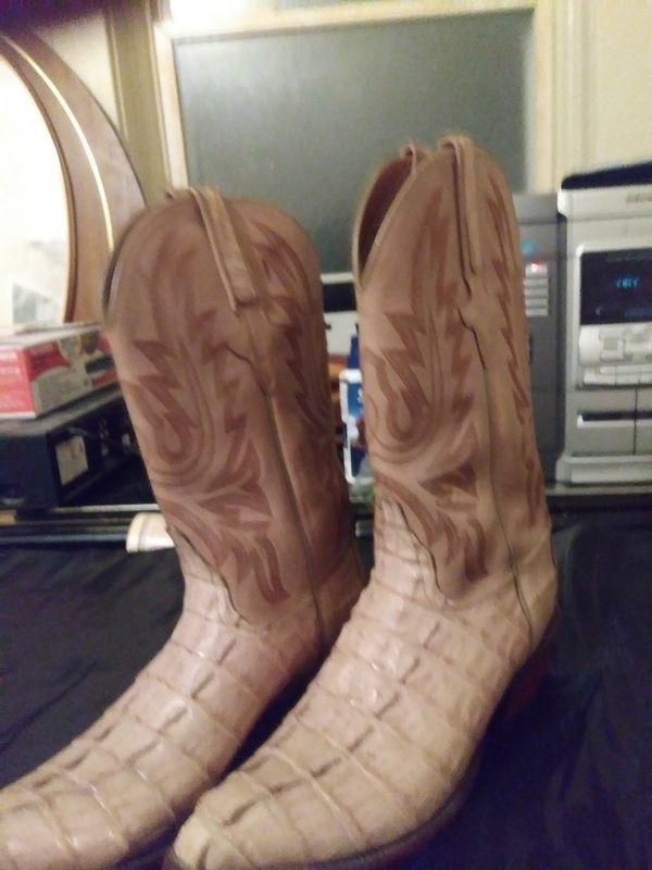 Size ten snake skin boots
