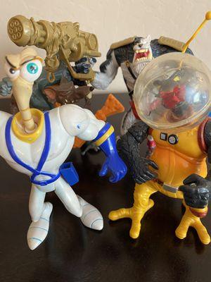 Set of 4 Vintage 1995 Earthworm Jim Action Figures w/Weapons for Sale in Surprise, AZ