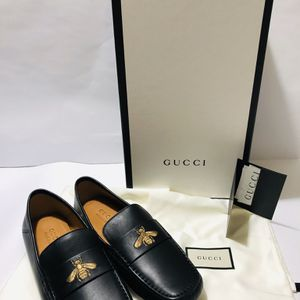 GUCCI Men's Kanye Bee Leather Moccasins US 6.5 for Sale in Miami, FL