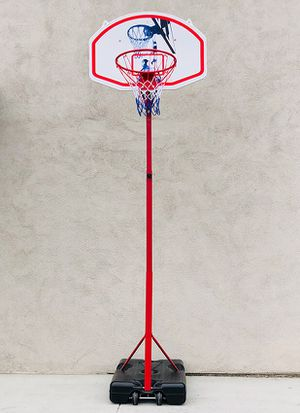 """New in box $75 Basketball Hoop w/ Stand Wheels, Backboard 32""""x23"""", Adjustable Rim Height 6' to 8' for Sale in Pico Rivera, CA"""