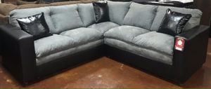 Grey and Black Sectional Sofa Couch!! Brand New Free Delivery for Sale in Chicago, IL