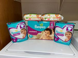 Pampers Size 4 Bundle Price is Firm 118 Diapers/ 200 Wipes for Sale in Gilbert, AZ