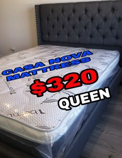 BRAND NEW BED FRAME QUEEN COMES IN BOX 📢MATTRESS INCLUDED 📢IN STOCK 📢SAME DAY DELIVER OR PICK UP 📢 for Sale in Carson,  CA