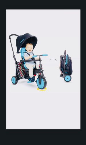 NEW! FOLDING TRICYCLE SMARTRIKE 6 in 1 300 COMFORT BABY INFANT STROLLER UMBRELLA CANOPY KIDS CHILDS BIKE BICYCLE SMART TRIKE for Sale in Reidsville, NC