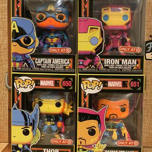 Funko Pop! Black Light Set Target Exclusives Minty for Sale in Modesto, CA