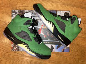 Air Jordan 5s Apple green Oregon size 9 for Sale in Kirkland, WA