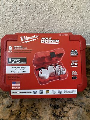 Milwaukee 9pc Hole Saw Kit for Sale in Lodi, CA
