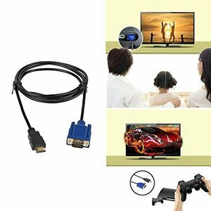 Gold HDMI Male to VGA Male 15 Pin Video Adapter Cable 1080P 6FT For TV DVD BOX (hdmicable-USA) for Sale in Riverside, CA