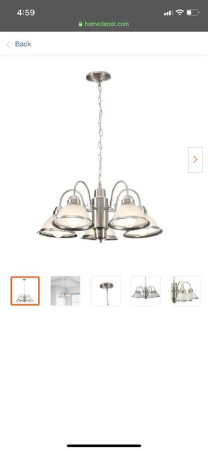 Halophane 5 light silver chandelier for Sale in Philadelphia, PA
