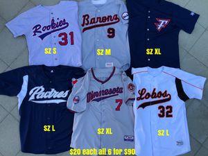Baseball jerseys mizuno easton demarini rawlings majestic gloves bats pants for Sale in Los Angeles, CA