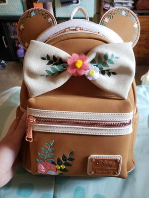 Disney Minnie Mouse Floral Fall Loungefly Backpack for Sale in Fresno, CA