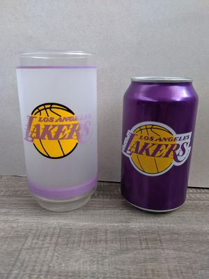 Vintage Lakers Glass and Collectible Can for Sale in Fontana, CA