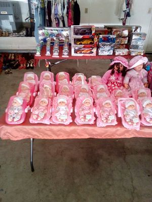 Mini babies with pacifier and carseat $8 each 5031 cantlewood drive Palmdale California open from 6 a.m. to 8 p.m. for Sale in Palmdale, CA