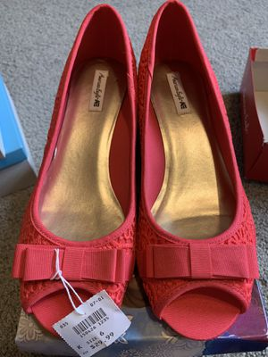 Brand new size 6 hot pink wedges $12 for Sale in Pasadena, TX