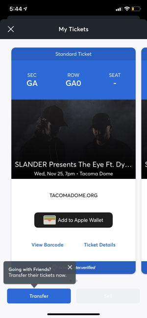 Slander and Dylan Mathew tickets for Sale in Auburn, WA