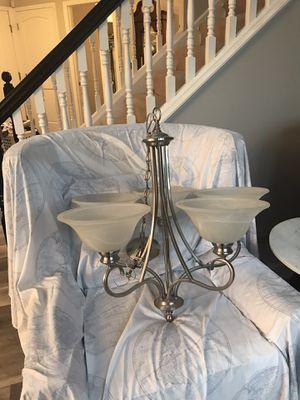 CHANDELIER - brushed nickel 5 bulb for Sale in Medina, OH