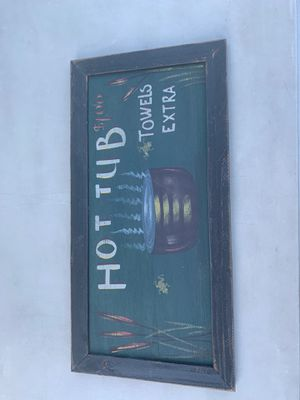 Hot tub sign for Sale in Graham, WA