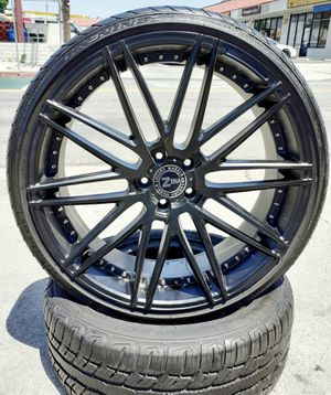 "20"" Mercedes BMW AUDI @ Matte Black Wheels & Tires VW Audi Lexus Cadillac CTS DTS European Style Rims Altima accord Camry setof4 for Sale in Los Angeles, CA"