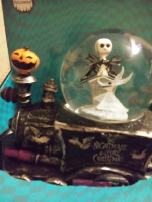 Nightmare before Christmas snow globe train for Sale in Phoenix, AZ