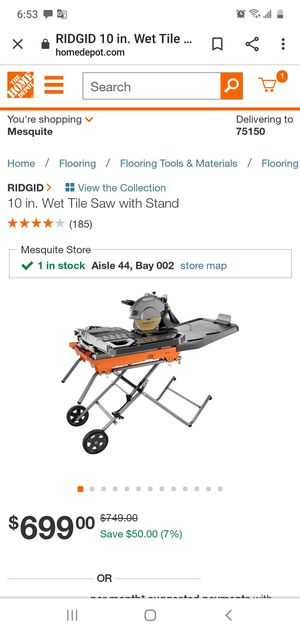 Saw ridgid for Sale in Mesquite, TX