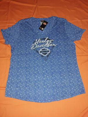 NEW Harley Davidson Motorcycle Shirt Woman Lady Women Short Sleeve XL jacket for Sale in Rossmoor, CA