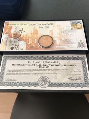 Pope John Paul ll coin for Sale in OSBORNVILLE, NJ