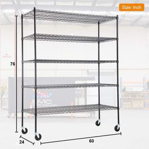 """NSF Wire Shelving Unit 60x24x76"""" Metal Shelves Storage 5 Tier 5000lbs Capacity for Sale in Queens, NY"""