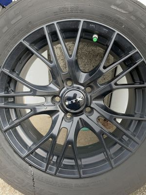 RTX black rims and Delinte tires for Sale in Fall River, MA
