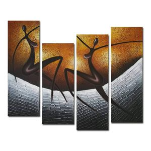 (FREE SHIPPING) Brand New Canvas African Dancers Abstract Oil Paintings Home Décor Wall Art for Sale in Atlanta, GA