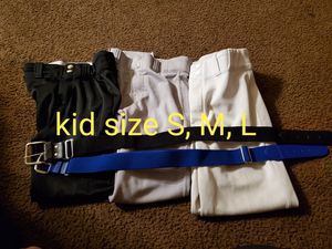 Kid baseball pants and belts for Sale in Riverside, CA