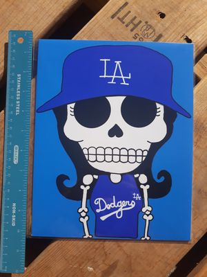 "Dodgers Woman Fan Day of the Dead 8""x10"" Print for Sale in Los Angeles, CA"