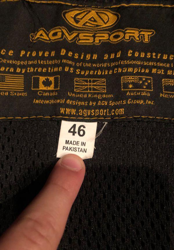 Suzuki leather motorcycle jacket with body armor