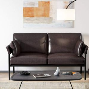 Tribesigns Leather Loveseat 2 Seater Vintage Sofa for Small Space for Sale in Los Angeles, CA