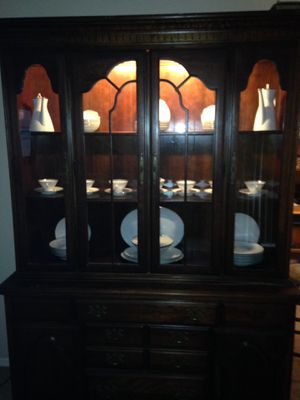 Beautiful cabinet complete with China for Sale in Nashville, TN