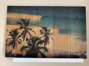 Wall art picture Trees & Beach California on wood Surfer vibe for Sale in Los Angeles, CA