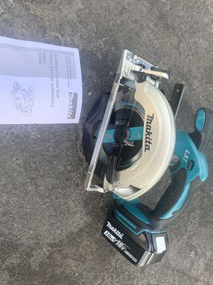 Makita 61/2 Circular Saw + 3.0 Battery (NO CHARGER) for Sale in San Jose, CA