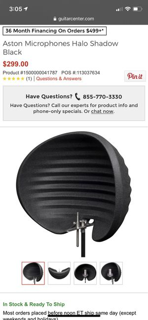 Aston halo mic shield for Sale in CA, US