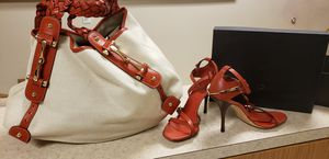 Authentic Gucci handbag and sandals size 8 for Sale in Cedar Hill, TX