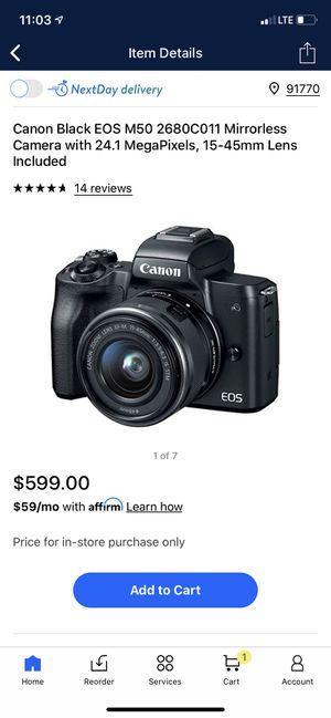 Like New Canon EOS M50 Camera for Sale in Norwalk, CA