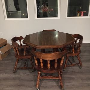 Small Kitchen Table With Four Chairs, Antique for Sale in Raleigh, NC