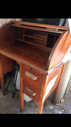 Antique solid wood 100 yr old desk for Sale in Union City, CA